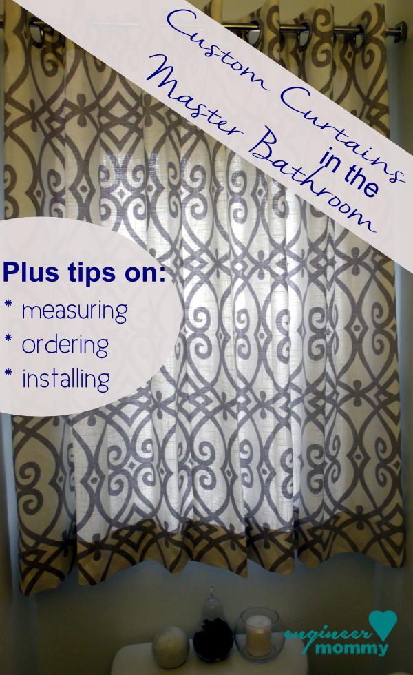 Custom Window Treatments: Master Bathroom Upgrade