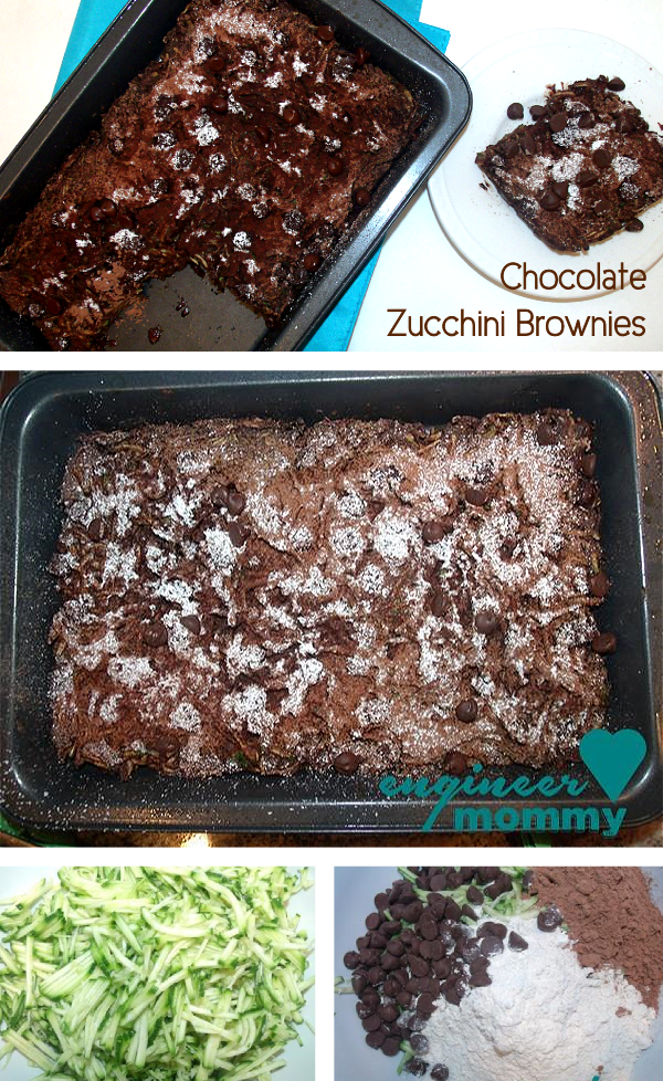 Healthy Chocolate Zucchini Brownies