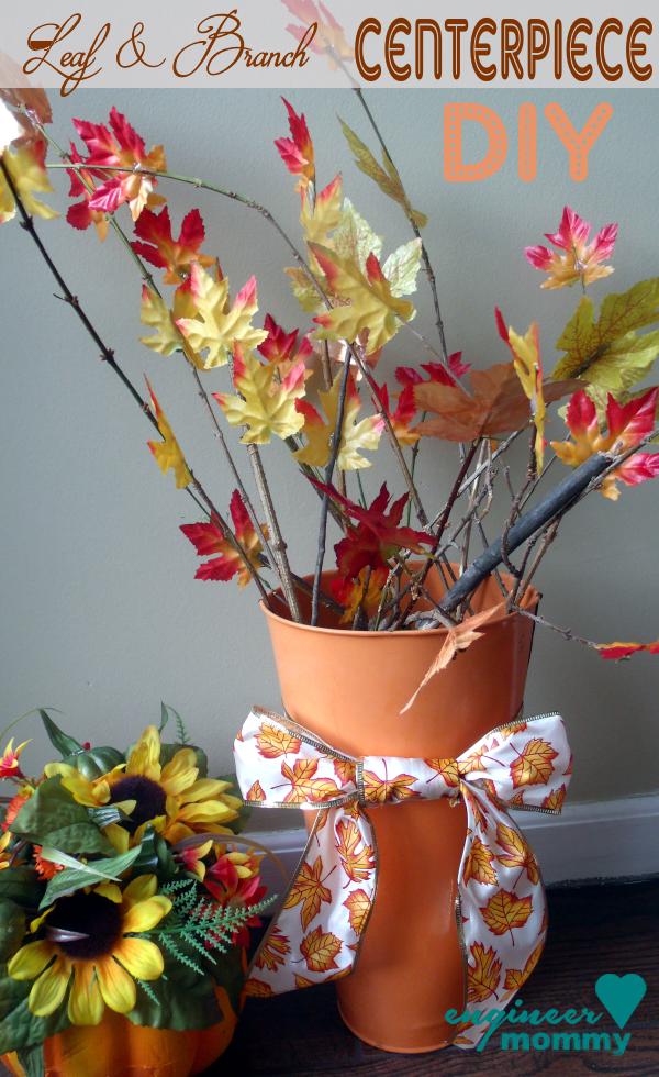 Fall DIY: Leaf & Branch Centerpiece