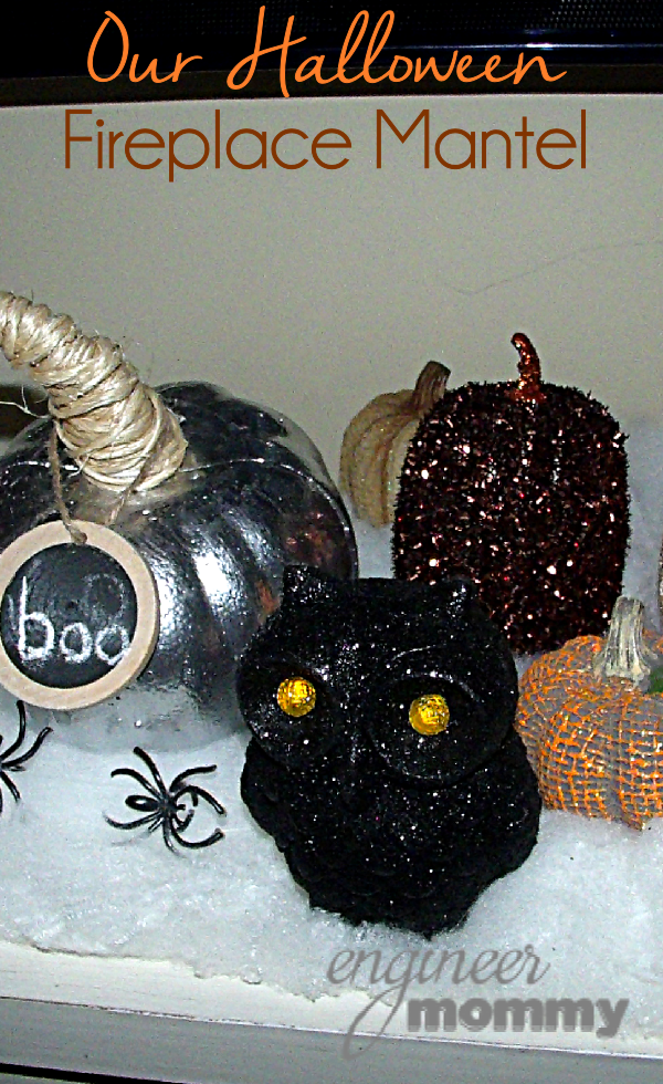 Our Halloween Fireplace Mantel