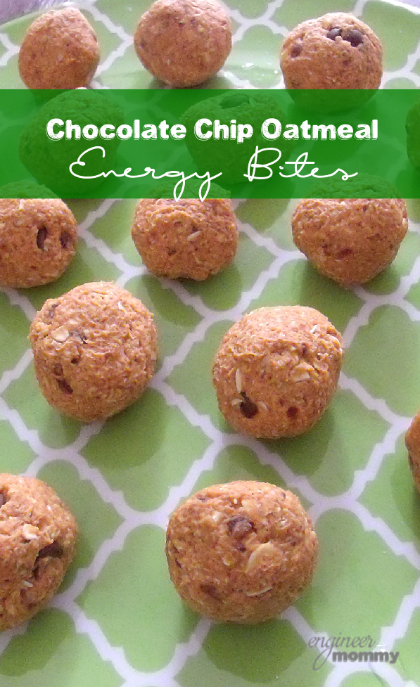 Chocolate Chip Oatmeal Energy Bites