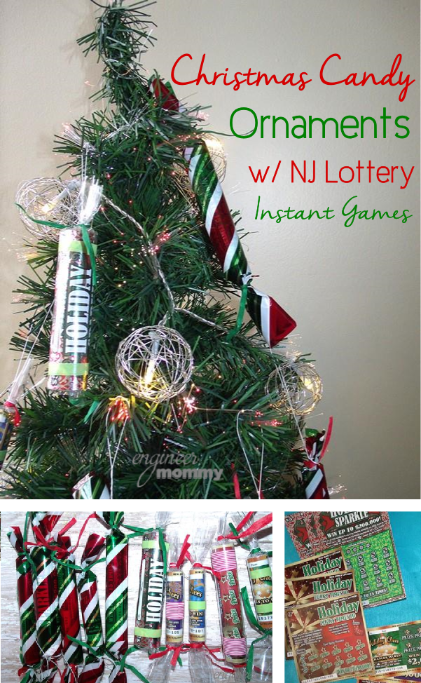 DIY Christmas Candy Ornaments with NJ Lottery Holiday Instant Games