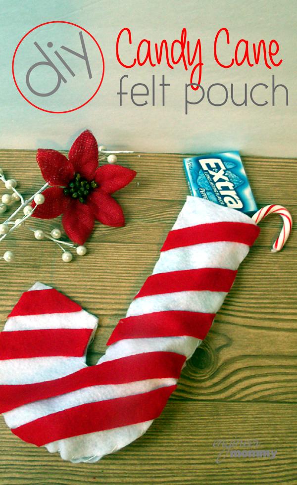 DIY Candy Cane Felt Pouch