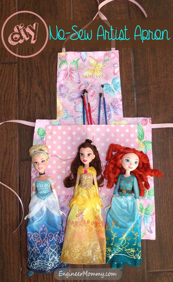 DIY No-Sew Artist Apron for Kids