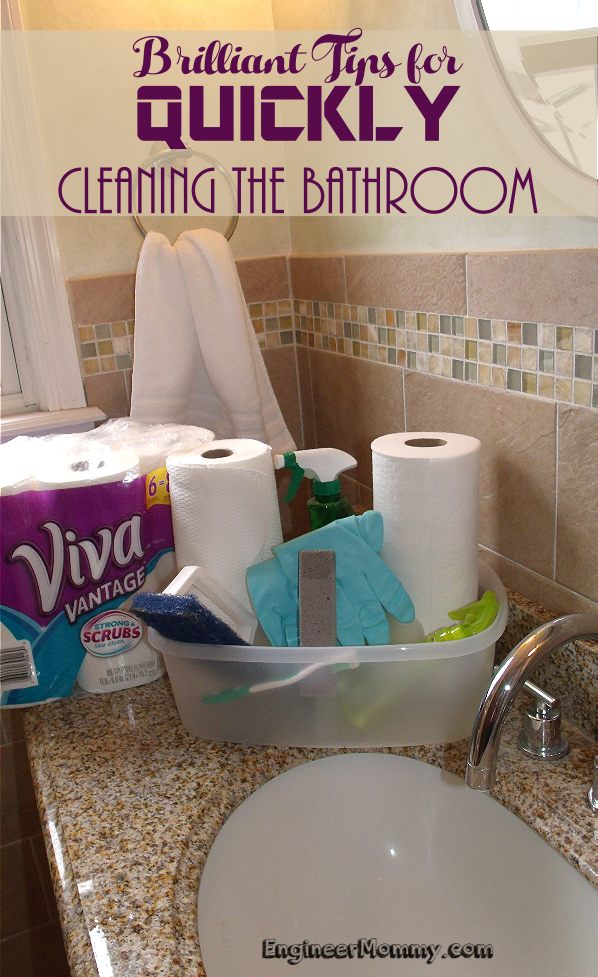 Brilliant Tips for Quickly Cleaning the Bathroom