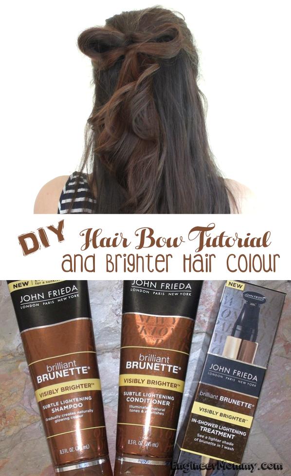 DIY Hair Bow Tutorial & Brighter Hair Colour