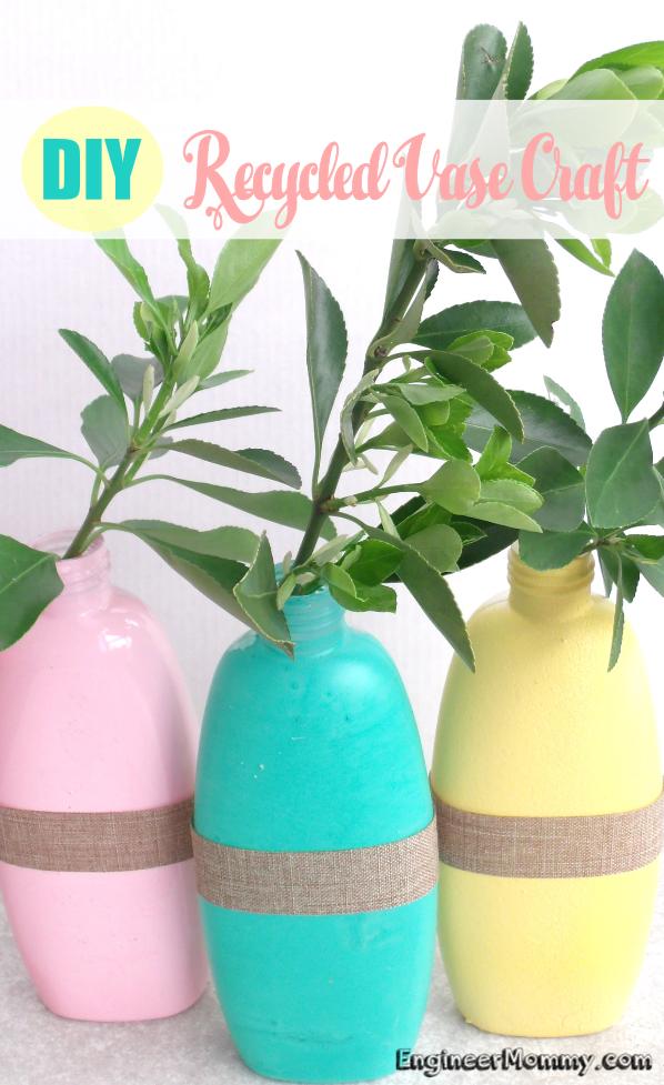 DIY Recycled Vase Craft