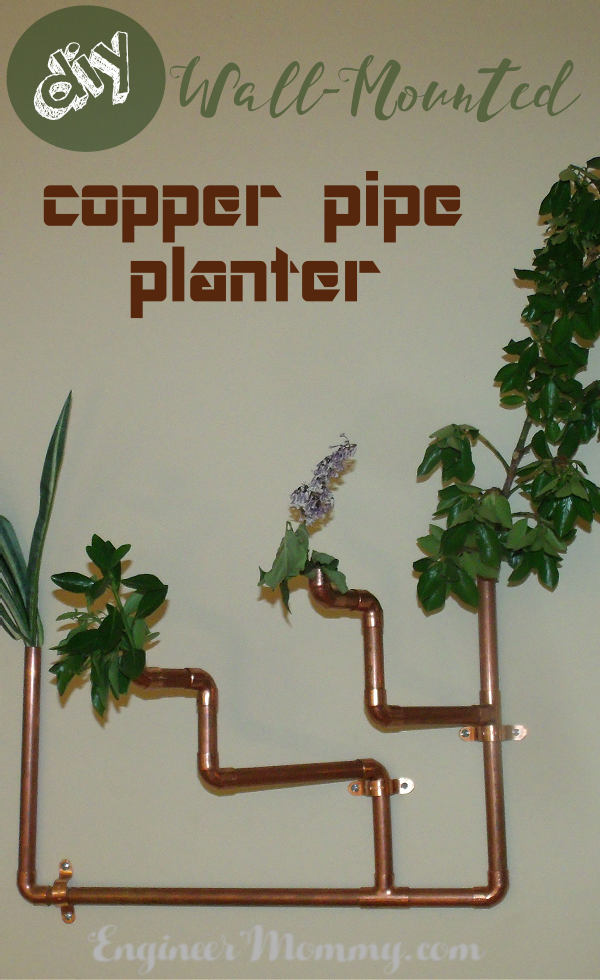 DIY Wall-Mounted Copper Pipe Planter
