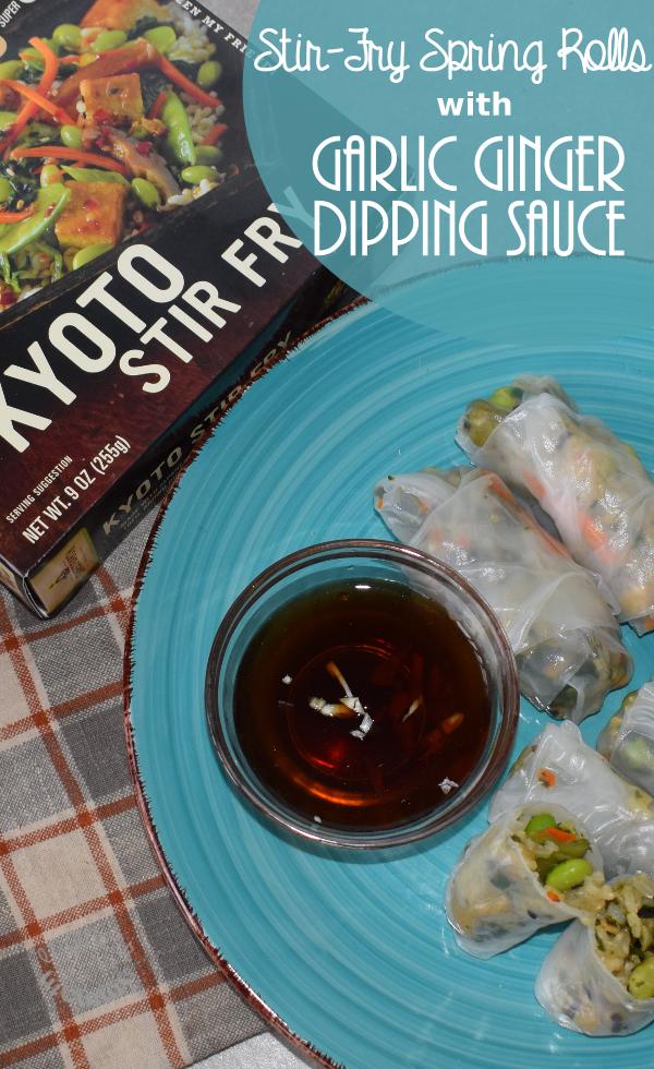 Stir-Fry Spring Rolls w/ Garlic Ginger Dipping Sauce