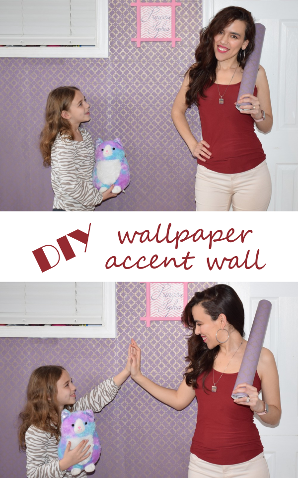 DIY Wallpaper Accent Wall