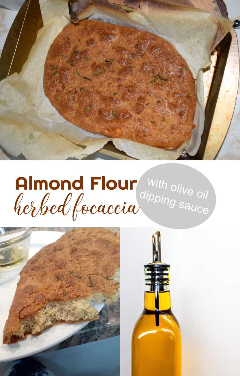 Almond Flour Herbed Focaccia Bread