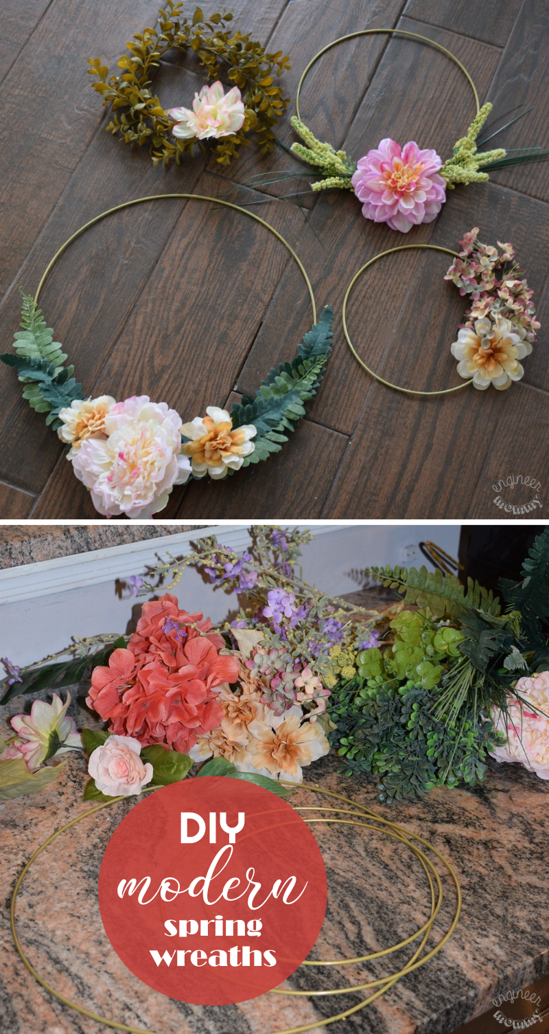 Easy DIY Modern Spring Wreaths