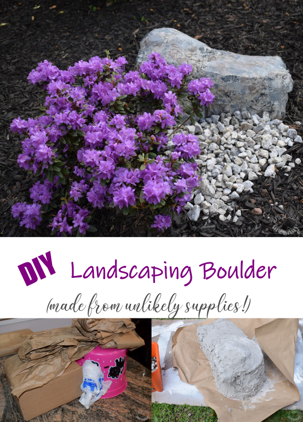 DIY Landscaping Boulder (made from unlikely supplies!)