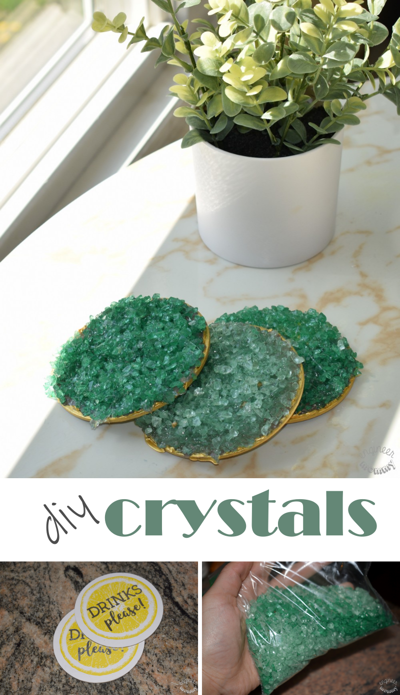 DIY Crystals for Home Decor:  The Easiest Method Ever