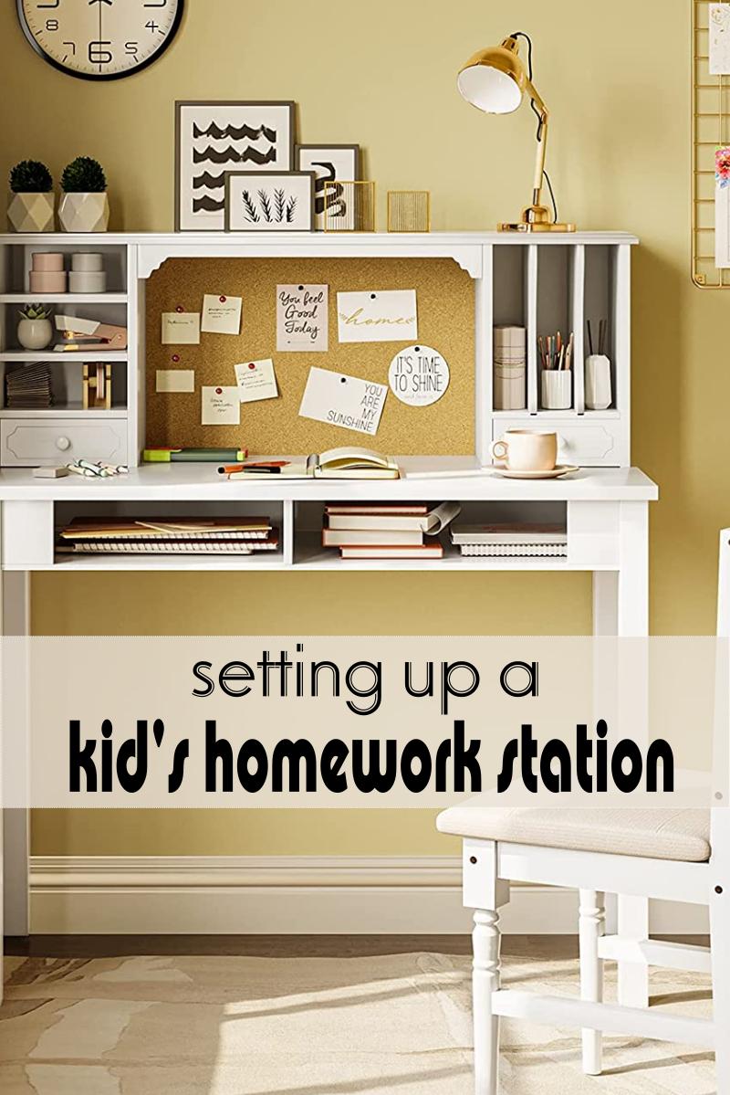 Setting up a Kid's Homework Station